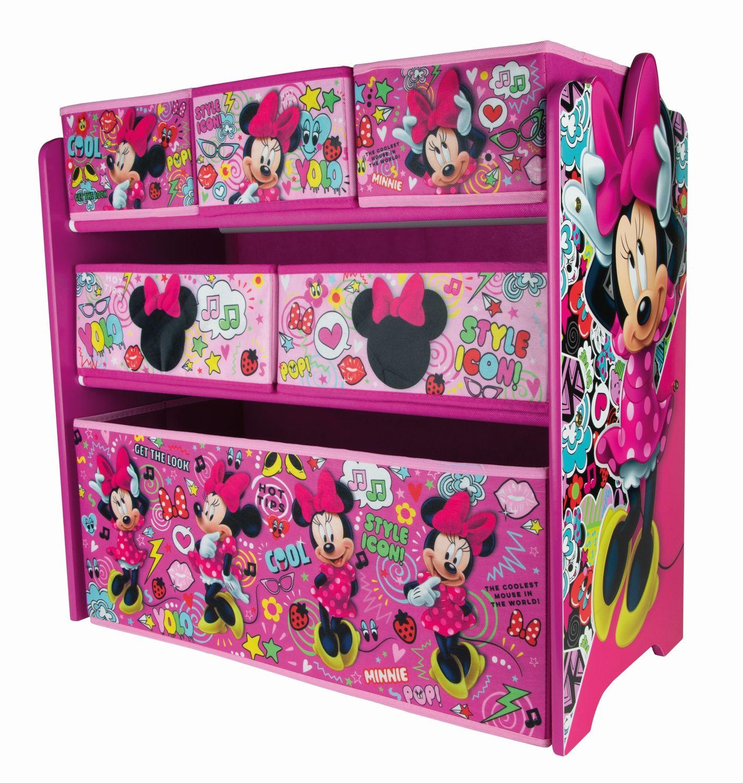 Disney Minnie Mouse Kinderregal aus Holz mit Aufbewahrungsboxen