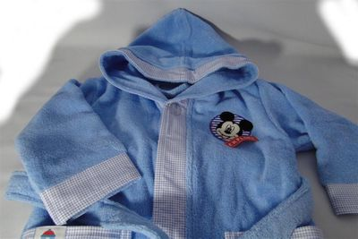 Bademantel Disney Mickey Mouse blau von Morgenstern – Bild 2