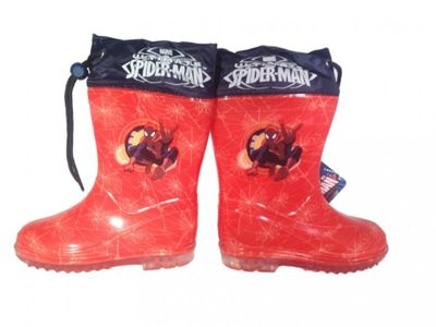 Spiderman Gummistiefel in rot