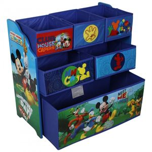 Disney Mickey Mouse wooden shelf with storage boxes for children (Multi Toy Organizer) – Image 1