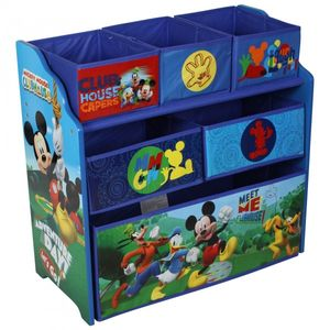 Disney Mickey Mouse wooden shelf with storage boxes for children (Multi Toy Organizer) – Image 2
