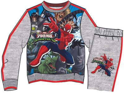 Jogging Suit with Spiderman theme, grey