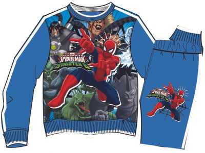 Jogging Suit with Spiderman theme, blue
