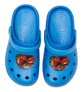 Spiderman Clogs / Slipper / Beach Sandals in light blue