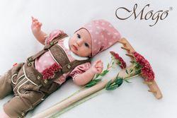 Kidstracht Mogo Body Trachtenbody Babybody Shirt kurzarm rosa zur Lederhose 50 - 86 001