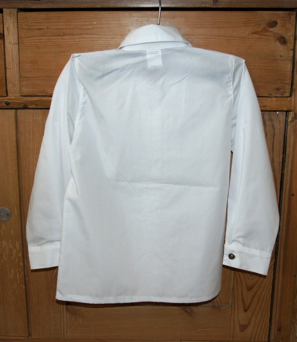 Isar Trachten Dirndlbluse Trachtenbluse Bluse mit Rüschen weiß langarm Gr. 80 - 152 – Bild 6