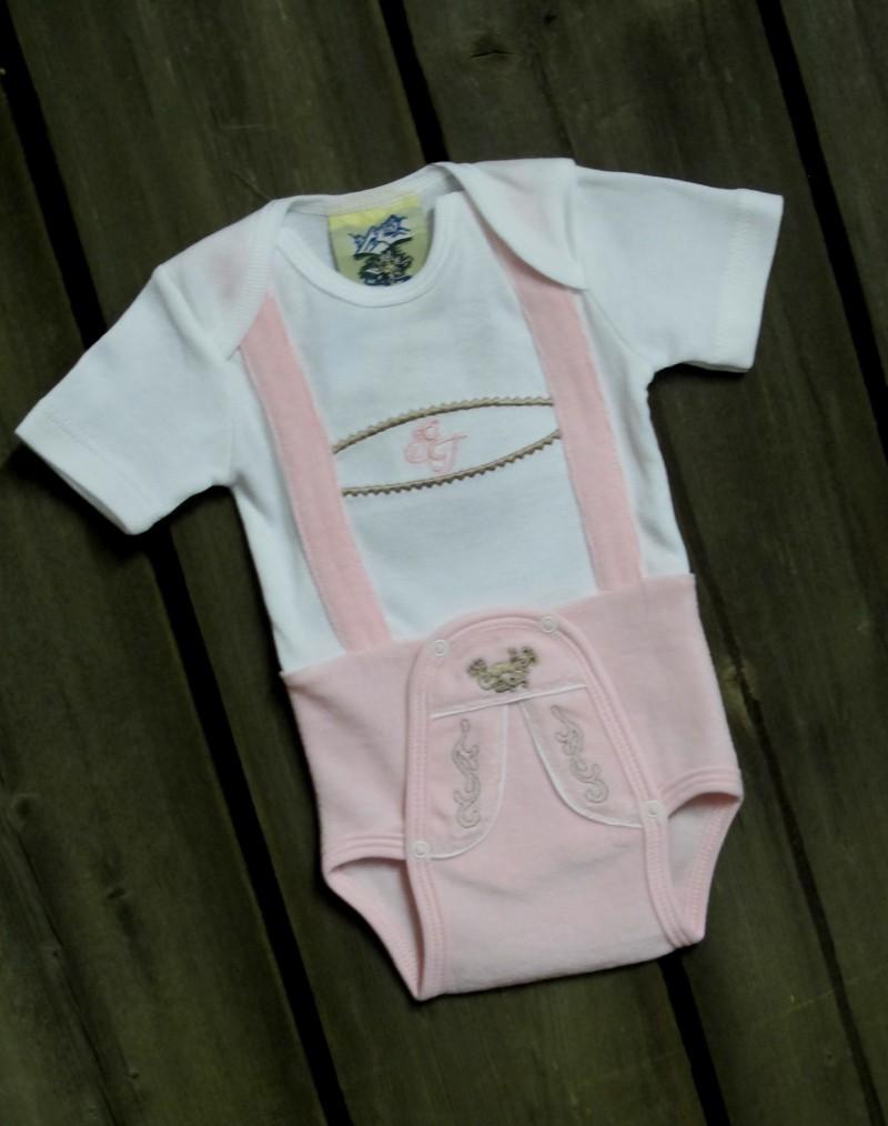 size 40 f61b3 a14ae Isar Trachten Mädchen Body / Baby Strampler Tracht, Gr 56 - 92