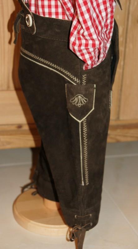 Maddox Kinderlederhose Lederhose Kniebundlederhose dunkelbraun Gr. 98-176 – Bild 2