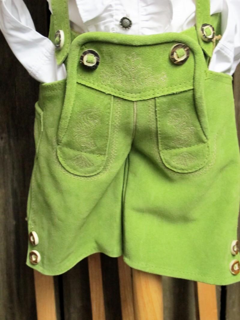 Maddox Baby-Kinderlederhose Lederhose kurz grün  Gr. 62 - 176 – Bild 3