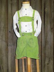 Maddox Baby-Kinderlederhose Lederhose kurz grün  Gr. 62 - 176 001