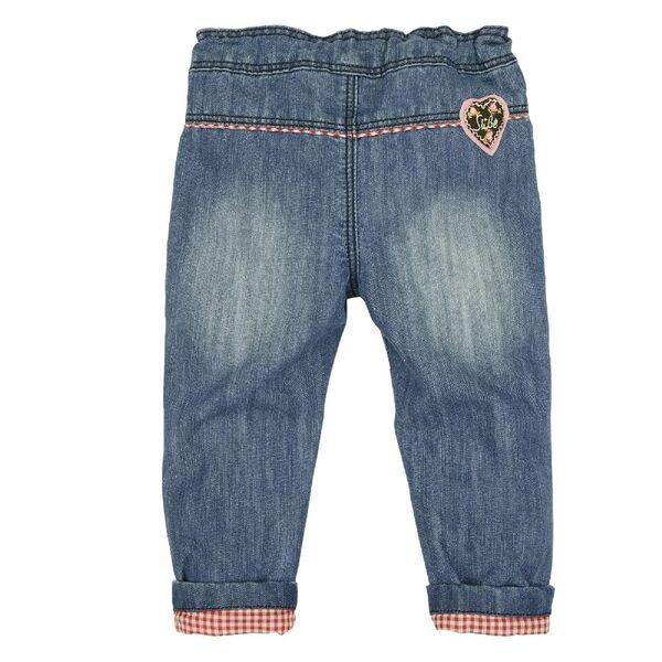 Bondi Lederhose Jeanslederhose lang Babyhose blau denim  62 - 116 – Bild 2