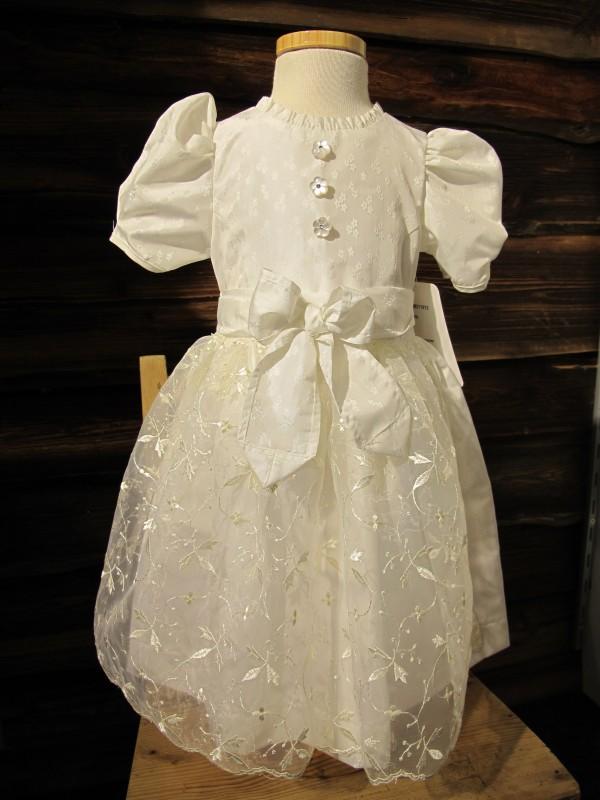 Turi Trachten Taufkleid Kleid Taufe Taufdirndl Festkleid weiß/ champagner Gr 62-74 – Bild 1