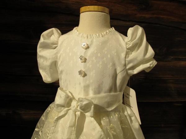 Turi Trachten Taufkleid Kleid Taufe Taufdirndl Festkleid weiß/ champagner Gr 62-74 – Bild 2