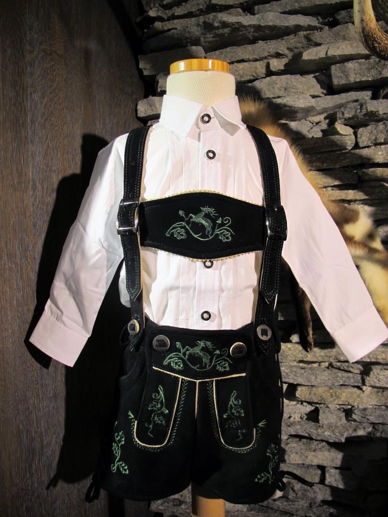 Isar Trachten Trachtenhemd Hemd weiß Gr. 62 - 176 – Bild 1