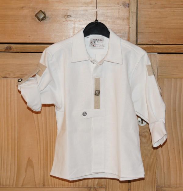 St. Peter Trachtenhemd Hemd weiß Landhaus Leinen Gr. 68 - 92 – Bild 1