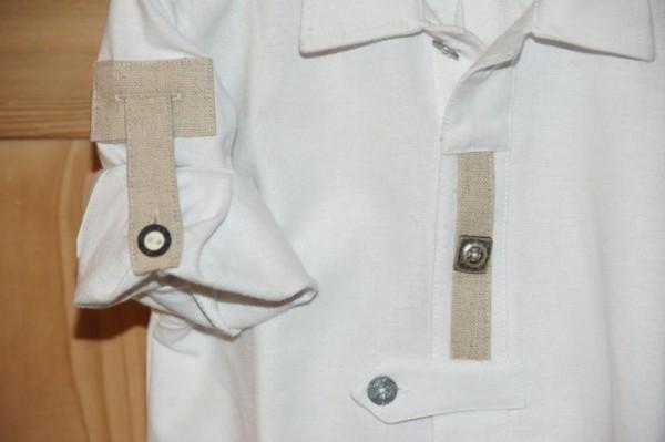 St. Peter Trachtenhemd Hemd weiß Landhaus Leinen Gr. 68 - 92 – Bild 3