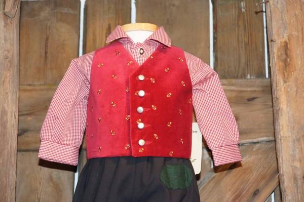 Turi Baby Trachtenhemd Hemd zur Taufe rot Gr. 62 - 80 – Bild 3