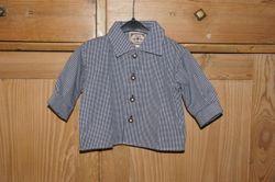 Turi Baby Trachtenhemd Hemd zur Taufe blau Gr. 62 - 80 001