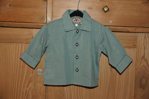 Turi Baby Trachtenhemd Hemd zur Taufe grün Gr. 62 - 74 – Bild 1