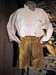 Isar Trachten Trachtenhemd Querriegel Pfoad Hemd weiß Gr. 62 - 176 001