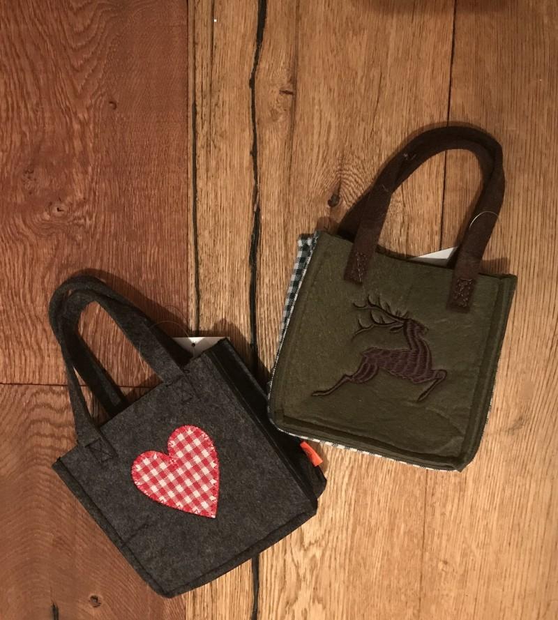 849f0982df9e4 Filztasche Trachtentasche Filz Handtasche Tracht grün   grau zum Dirndl
