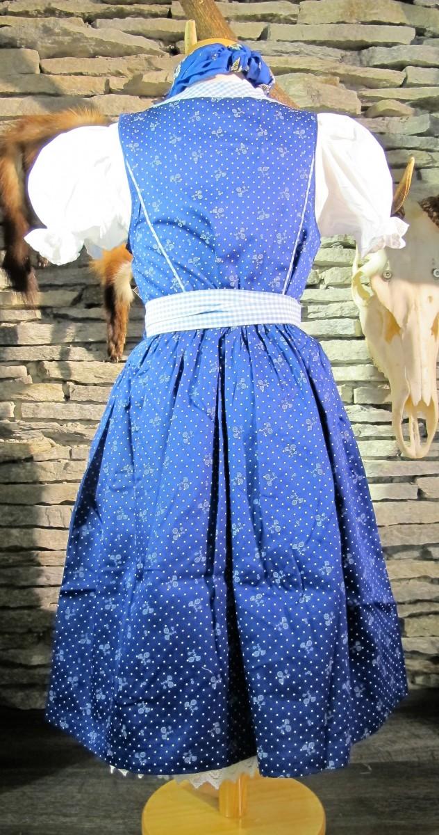 Isar Trachten Kinderdirndl Babydirndl Dirndl incl.Bluse und Schürze blau 80 - 164 – Bild 6