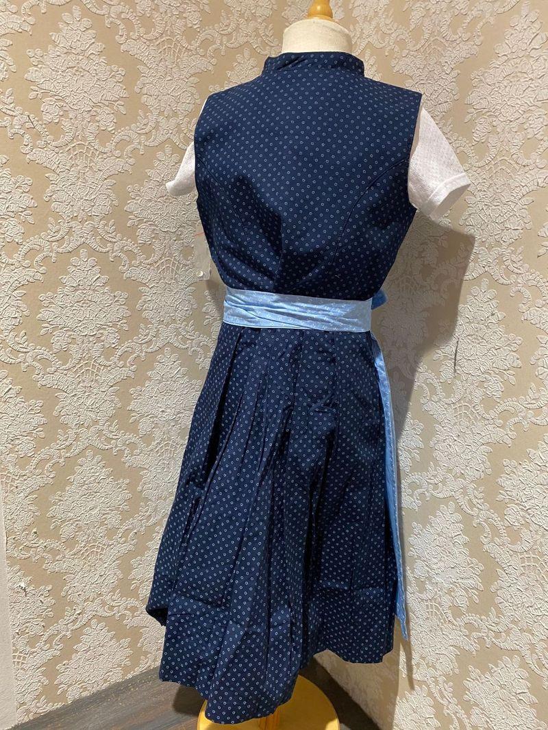 Marjo Partnerlook 5 Kinder Dirndl Kinderdirndl mit Bluse blau Gr. 98 - 176 – Bild 4