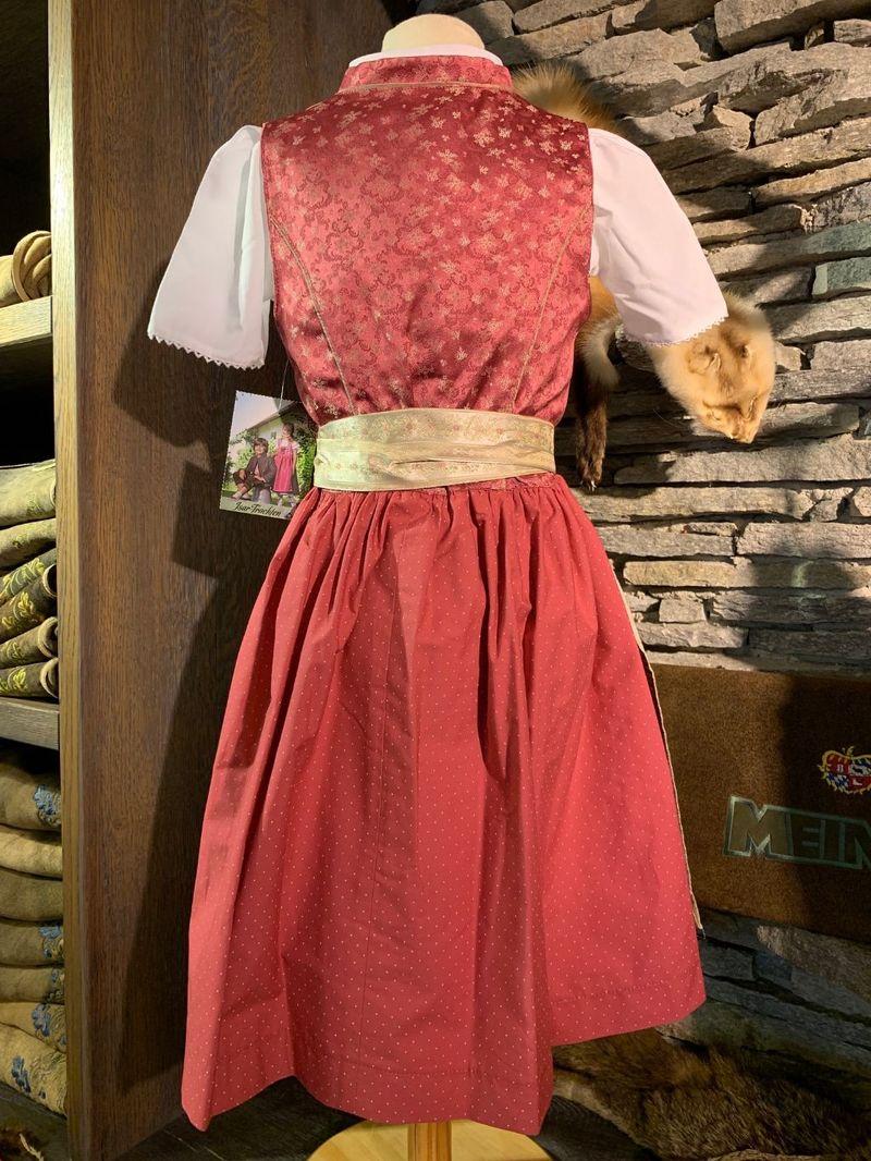 Dirndl Kinderdirndl Babydirndl beere pink incl.Bluse u. Schürze Gr. 68 -134 – Bild 2