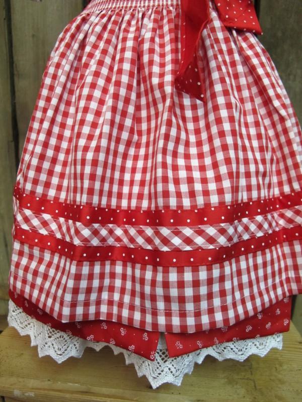 Turi Trachten Dirndl Kinderdirndl rot incl.Bluse Gr. 104-158 – Bild 5