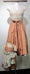 Berwin / Wolff Partnerlook 1 Dirndl Damendrindl altrosa creme inkl Bluse Gr.32 - 40  001