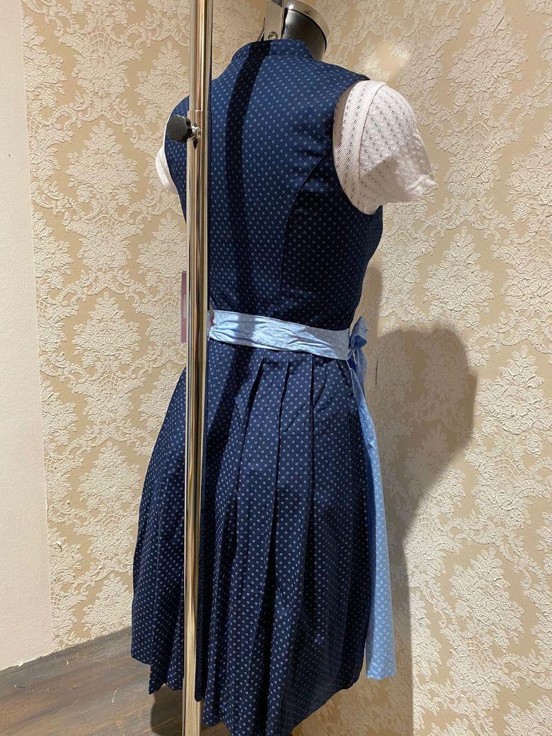 Marjo Partnerlook 5 Damen Dirndl Sommerkleid mit Bluse blau Gr. 30 - 42 – Bild 4