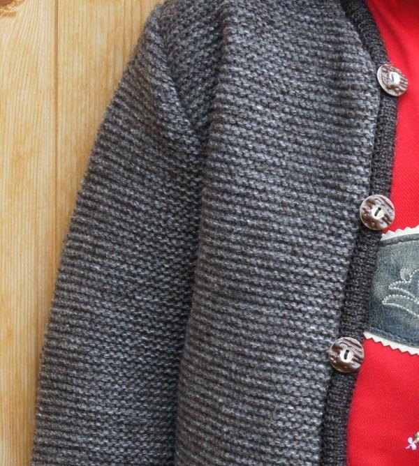 Isar Trachten Strickjacke Strickweste Trachtenweste hellbraun (mode) Gr 68 - 176 – Bild 3