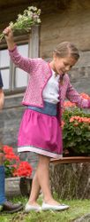 Hammerschmid Strickjacke pink Gr 86 - 164 zum Dirndl traditionell 001