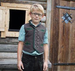 Almsach Gilet Weste Kindergilet braun tanne  Gr. 62 - 134 001
