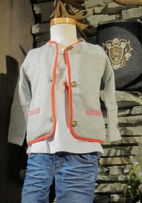 Bondi Sweatjacke Jacke langarm grau Gr. 62 - 152 – Bild 1