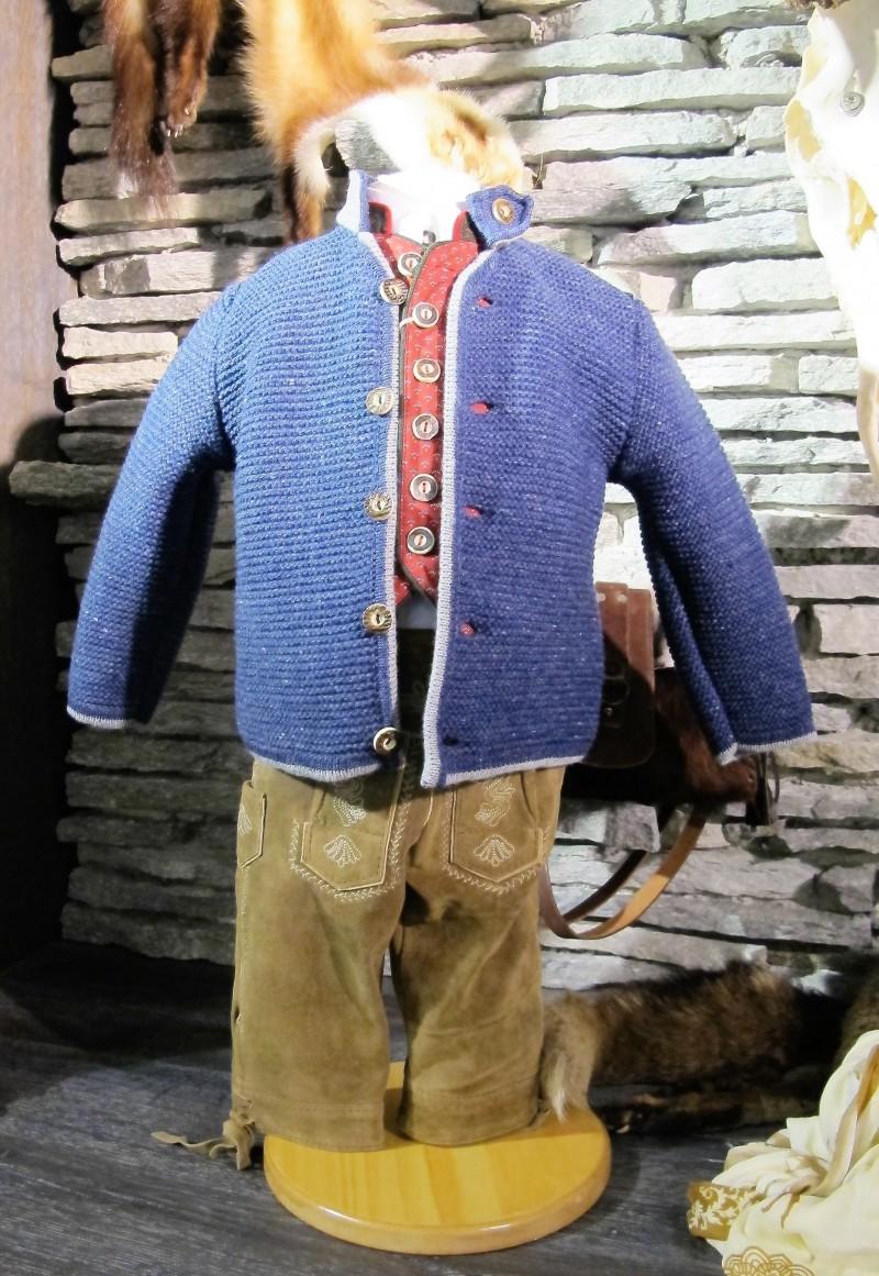 Isar Trachten Strickjacke Trachtenjacke jeansblau Gr. 62 - 176 – Bild 1