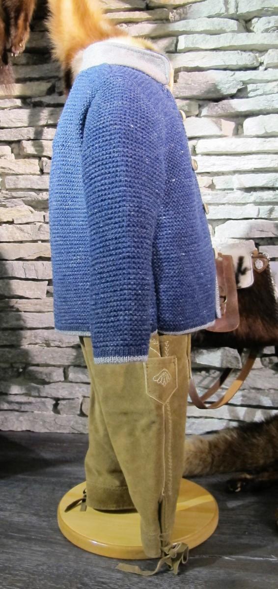 Isar Trachten Strickjacke Trachtenjacke jeansblau Gr. 62 - 176 – Bild 3