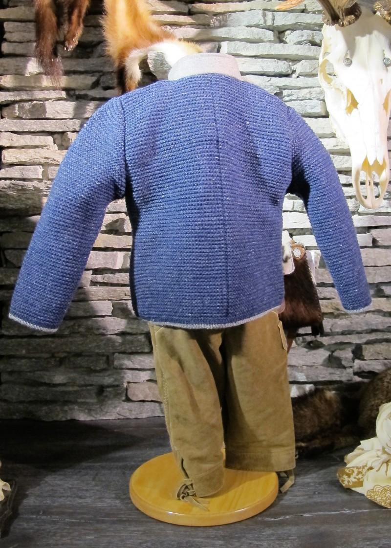 Isar Trachten Strickjacke Trachtenjacke jeansblau Gr. 62 - 176 – Bild 4