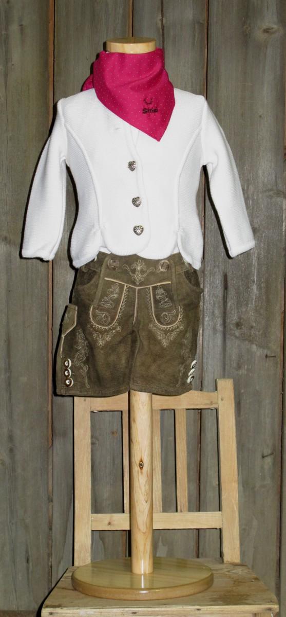 St.Peter traditionelle Strickjacke weiß Gr 68-164 zum Dirndl / Dirndljacke Lederhose – Bild 1