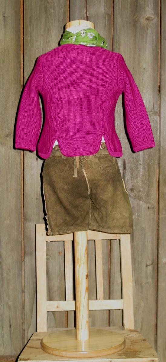 St.Peter traditionelle Strickjacke fuchsia Gr 68-164 zum Dirndl / Dirndljacke Lederhose – Bild 4