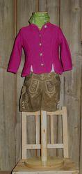 St.Peter traditionelle Strickjacke fuchsia Gr 68-164 zum Dirndl / Dirndljacke Lederhose 001