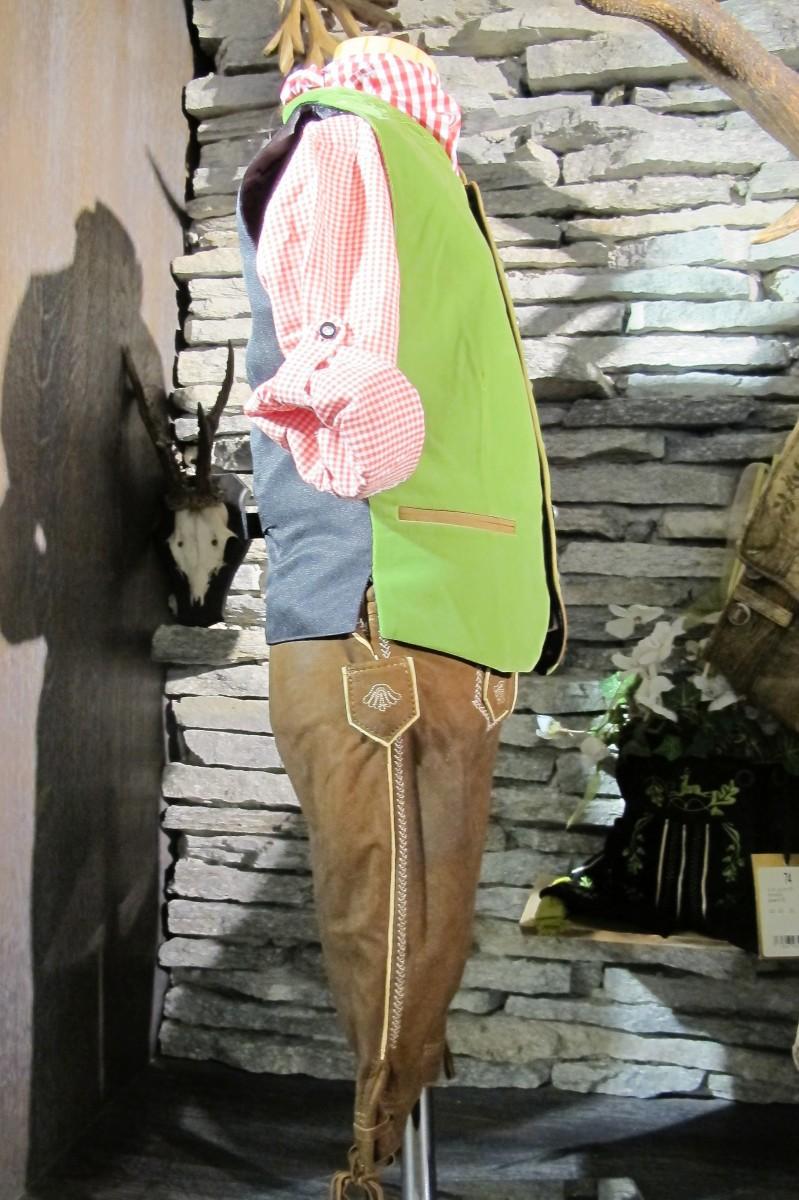 Maddox Gilet Weste grün apfel samt Kindergilet  Gr. 62 - 176 – Bild 4
