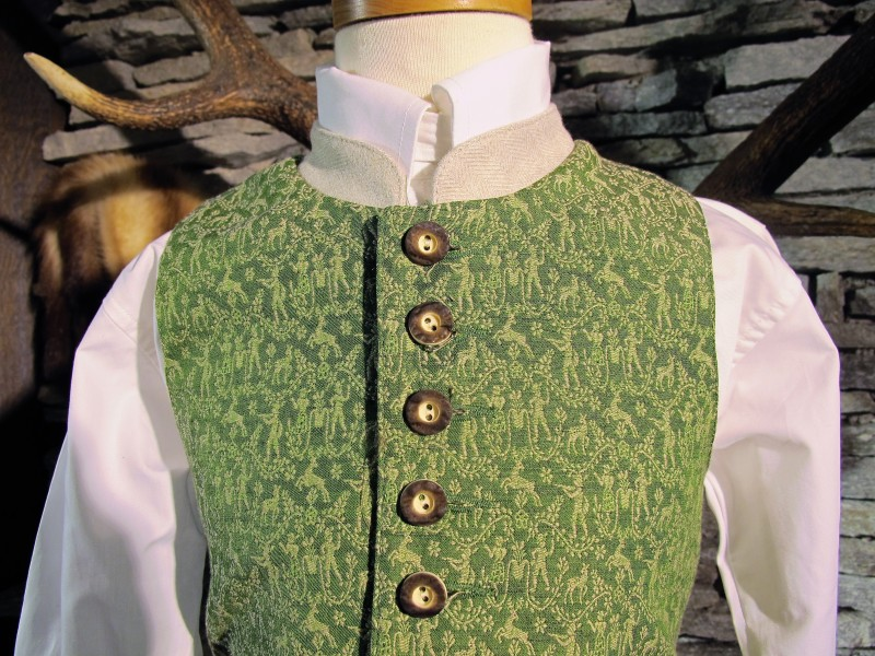 Turi Gilet Trachtenweste Weste grün Jägermotiv Kindergilet  Gr. 116 - 152 – Bild 2