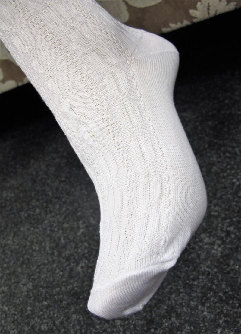 Isar Trachten Strumpfhose weiß Gr 62 - 176 zum Dirndl Trachtenstrumpfhose – Bild 4