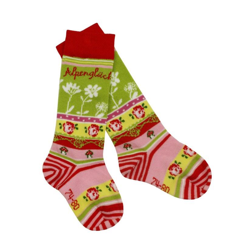 SALE Bondi Trachtensocken Gr. 15 - 30 Socken rot Alpenglück