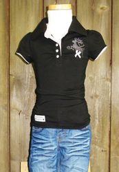 Marjo Trachten Poloshirt / Polohemd schwarz Gr. 86 - 152 001
