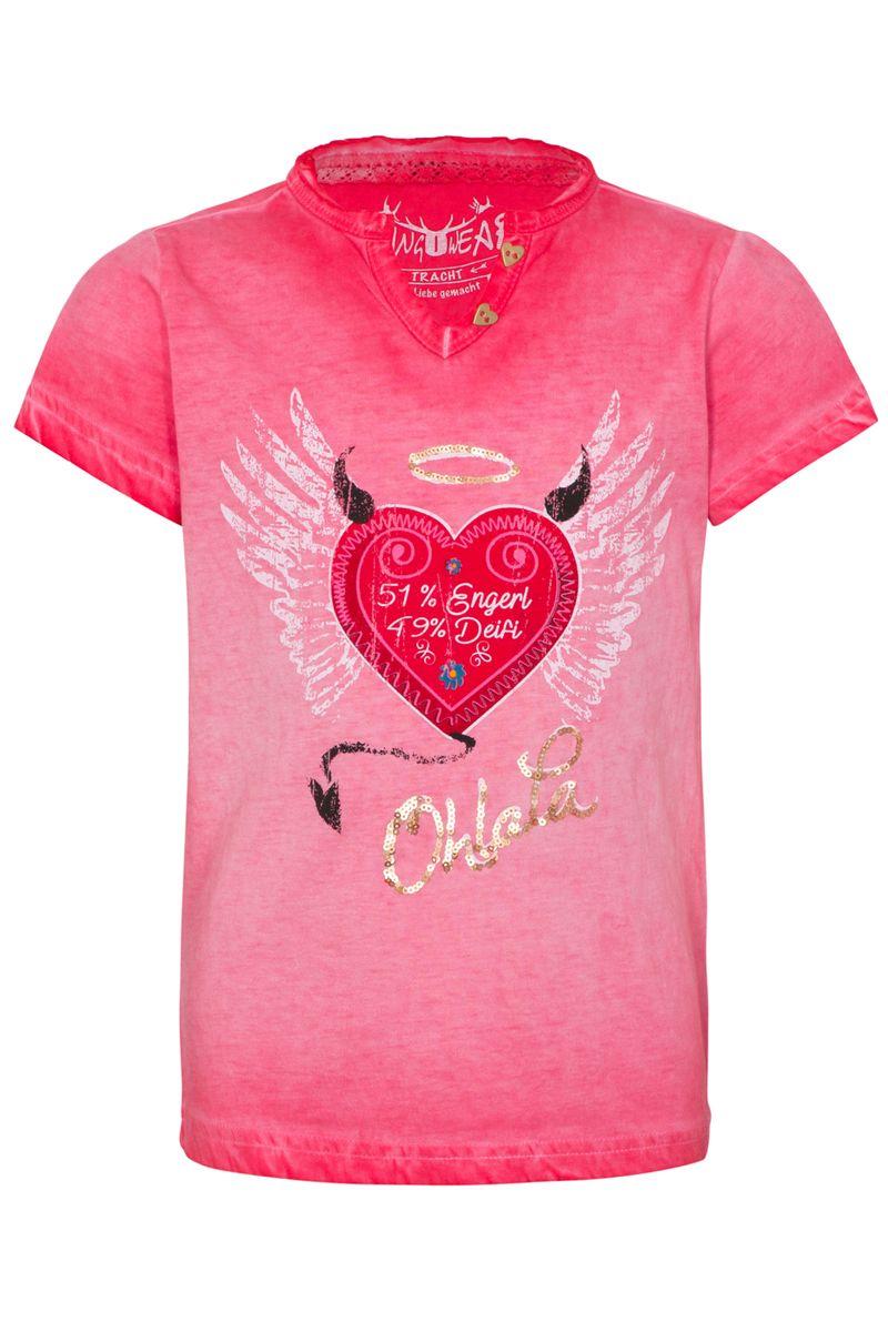 Hangowear Trachten Shirt Kindershirt Trachtenshirt rot   Gr. 86 - 152 – Bild 1