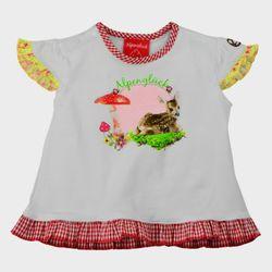 Bondi Shirt Trachtenshirt Alpenglück T-Shirt weiß Gr. 62-98 001