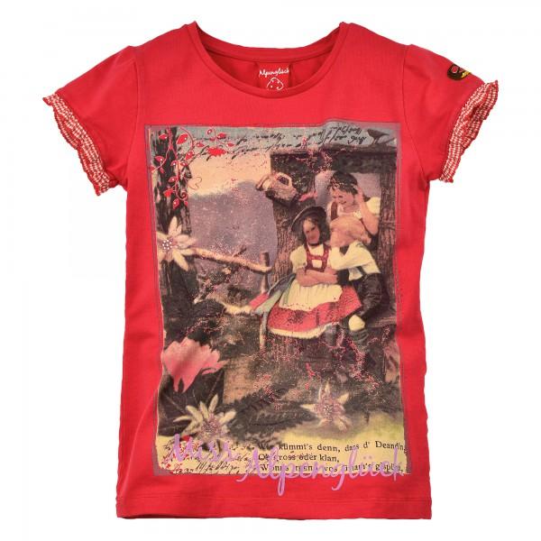 Bondi Shirt Trachtenshirt Alpenglück T-Shirt rot Gr. 104 - 128 – Bild 1