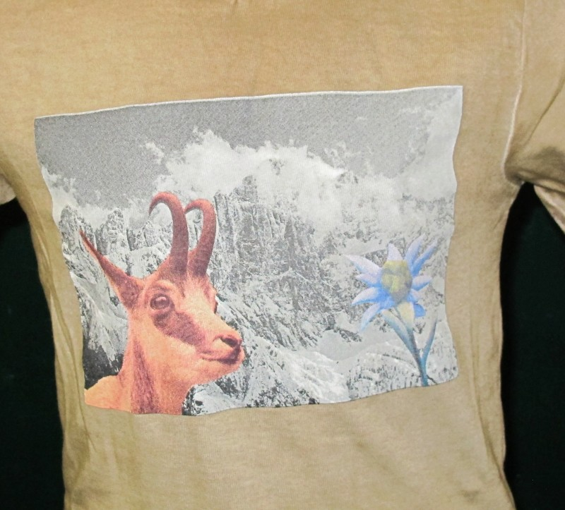 Isar Trachten Trachen T-Shirt / Shirt Trachtenshirt braun mit Ziege  Gr. 68 - 164 – Bild 2
